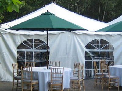 20 ft  x 7 ft  Cathedral Tent Walls image