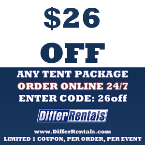 $26 Off any Tent Package DifferRentals